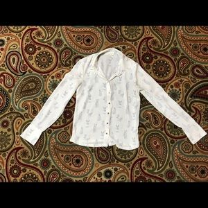 Bunny button down blouse.